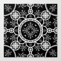 Scarab Tile Line Pattern… Canvas Print