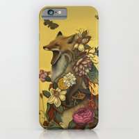 birthday iPhone & iPod Cases featuring Fox Confessor by Lindsey Carr