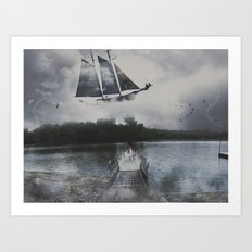 A Shipwreck Dream  Art Print