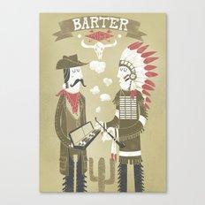 Barter Canvas Print