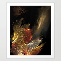 Dragon With Staircase Art Print