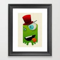 Scary Monster Framed Art Print