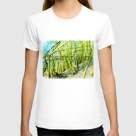 Disappear Womens Fitted Tee White SMALL