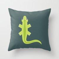 Letter L // Animal Alpha… Throw Pillow