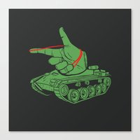 Rubber Artillery Canvas Print