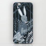 Rabbit In The Night iPhone & iPod Skin