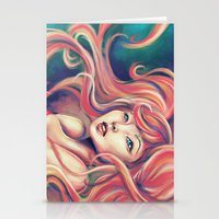 Technicolor Mermaid Stationery Cards