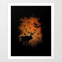 Lost Deer Art Print