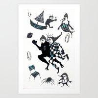 Fuite Du Roi Art Print