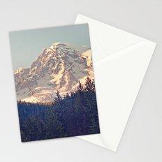 Mount Rainier Retro Stationery Cards
