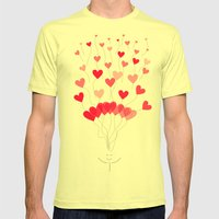 Be Mine :) Mens Fitted Tee Lemon SMALL