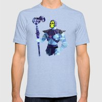 Polygon Heroes - Skeletor Mens Fitted Tee Tri-Blue SMALL