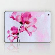 Two Pinks Flowers On Wat… Laptop & iPad Skin