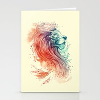 lion Stationery Cards featuring Sea Lion by Steven Toang