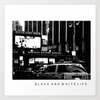 Black and White Life Art Print