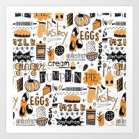 Pumpkin Pie !! Art Print