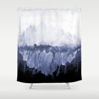 Paint 5 abstract water ocean arctic iceberg nature ocean sea abstract art drip waterfall minimal  Shower Curtain