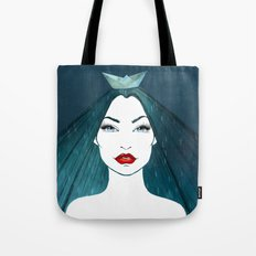 Rainy girl Tote Bag