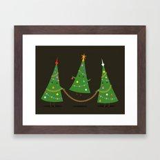 Christmas skipping Framed Art Print