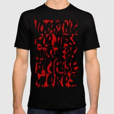 Wisdom.. Black SMALL Mens Fitted Tee