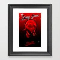 Stay Cool Sloth Framed Art Print