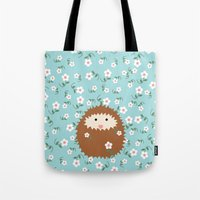 Hedgie in Spring Tote Bag