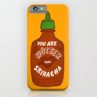 iPhone Cases featuring Sriracha Valentine by Leah Doguet