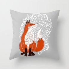 The Fox Says Throw Pillow