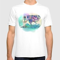 Mermaid Motel Mens Fitted Tee White SMALL