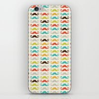 Hipster Mustaches iPhone & iPod Skin