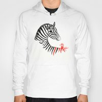 Black Zebra and Orange Bird Hoody