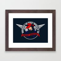 Where in the World is Peggy Carter? Framed Art Print
