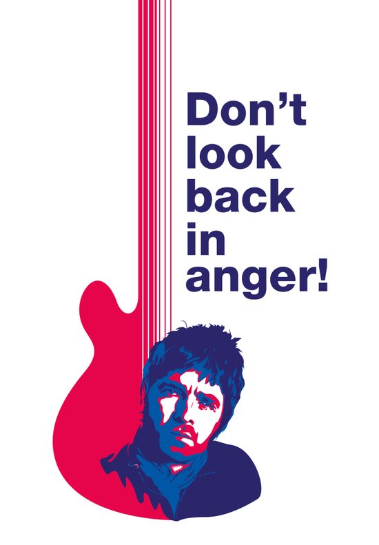 Noel Gallagher - Don't Look Back In Anger 02 Art Print