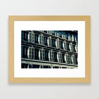 Parisian windows Framed Art Print