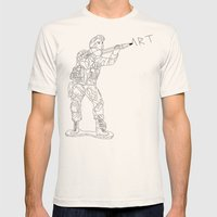 Military Art Mens Fitted Tee Natural SMALL