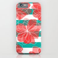 Camelia Coral and Turquoise iPhone 6 Slim Case