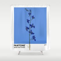 Pantone 279 U Shower Curtain