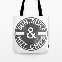 Sun, Surf And Hot Chips! Tote Bag