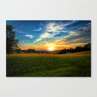 Dale Hollow Sunset Canvas Print