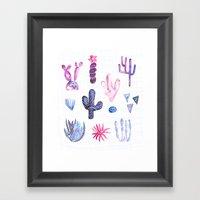 Pinata Cactus Framed Art Print