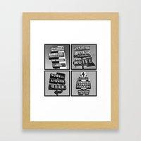 Vintage Signs Series #3 Framed Art Print