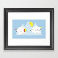 Cloud Fight Framed Art Print