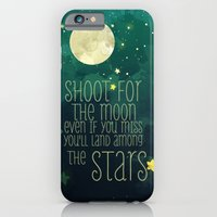 iPhone Cases featuring The moon and stars by Sara Eshak