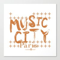 Music City Paris Canvas Print