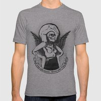 Vita alla morte. Morte alla Vita. Mens Fitted Tee Athletic Grey SMALL