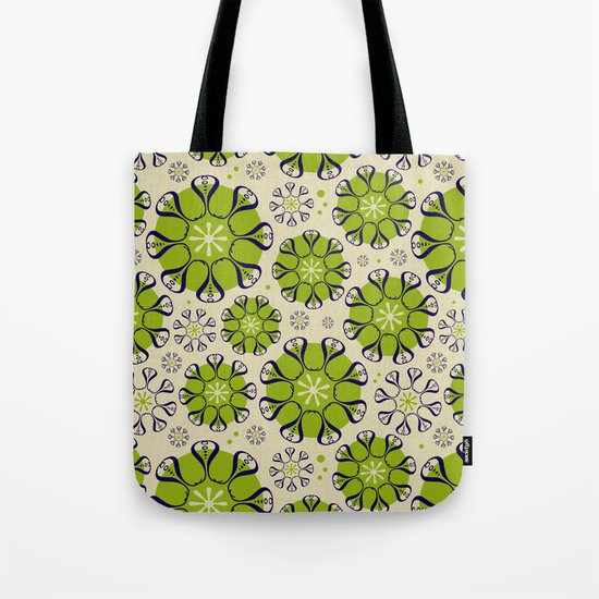 Playful Flower Pattern Tote Bag
