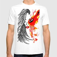 On Fire. Mens Fitted Tee White SMALL
