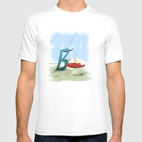 Time For Tea With Letter… Mens Fitted Tee White SMALL