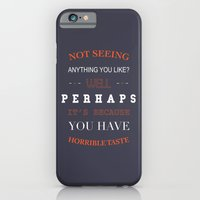 iPhone & iPod Case featuring Horrible Taste by Fimbis