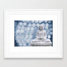 Buddha light blue  Framed Art Print